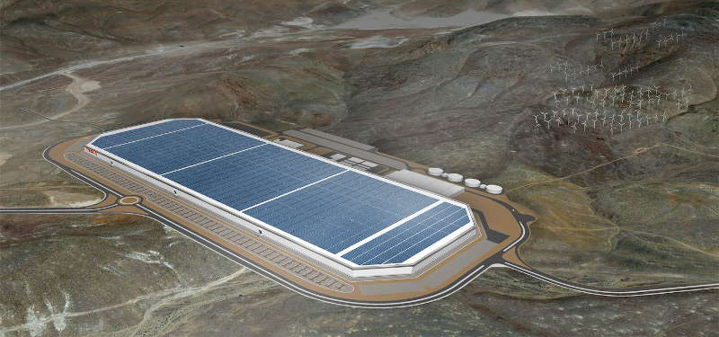 Tesla Nevada battery gigafactory